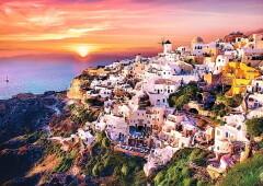 Santorini naplemente 1000 db-os Trefl puzzle