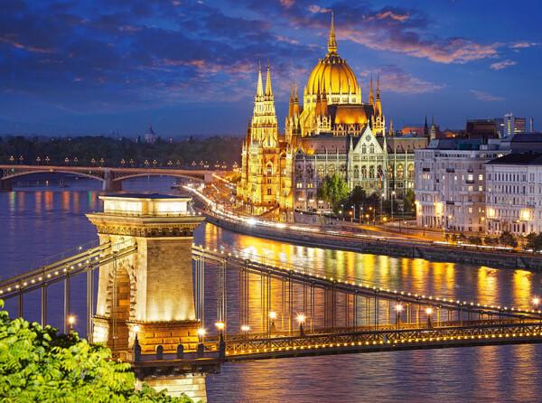 Budapesti látkép alkonyatkor 2000db-os puzzle
