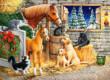 Castorland B-030255 - Barátok a pajtában - 300 db-os puzzle
