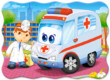 Castorland B-03471 - Mentő orvos - 30 db-os puzzle