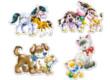Castorland B-04218 - Sziluett puzzle - Állatok és kicsinyeik - 4 5 6 7 db-os puzzle