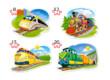 Castorland B-043033 - Vicces vonatok - 4 az 1-ben (8, 12, 15, 20 db-os) puzzle