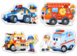 Castorland B-04393 - Sziluett puzzle - Mentő járművek - 4 5 6 7 db-os puzzle