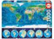 Educa 16760 - Neon puzzle - Világtérkép - 1000 db-os puzzle