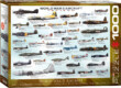 EuroGraphics 6000-0075 - World War II Aircraft - 1000 db-os puzzle