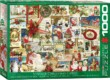 EuroGraphics 6000-0784 - Vintage Christmas Cards - 1000 db-os puzzle