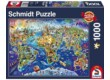 Schmidt 58288 - Discover the World - 1000 db-os puzzle