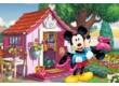 Trefl 17285 - Mickey és Minnie a kertben - 60 db-os puzzle