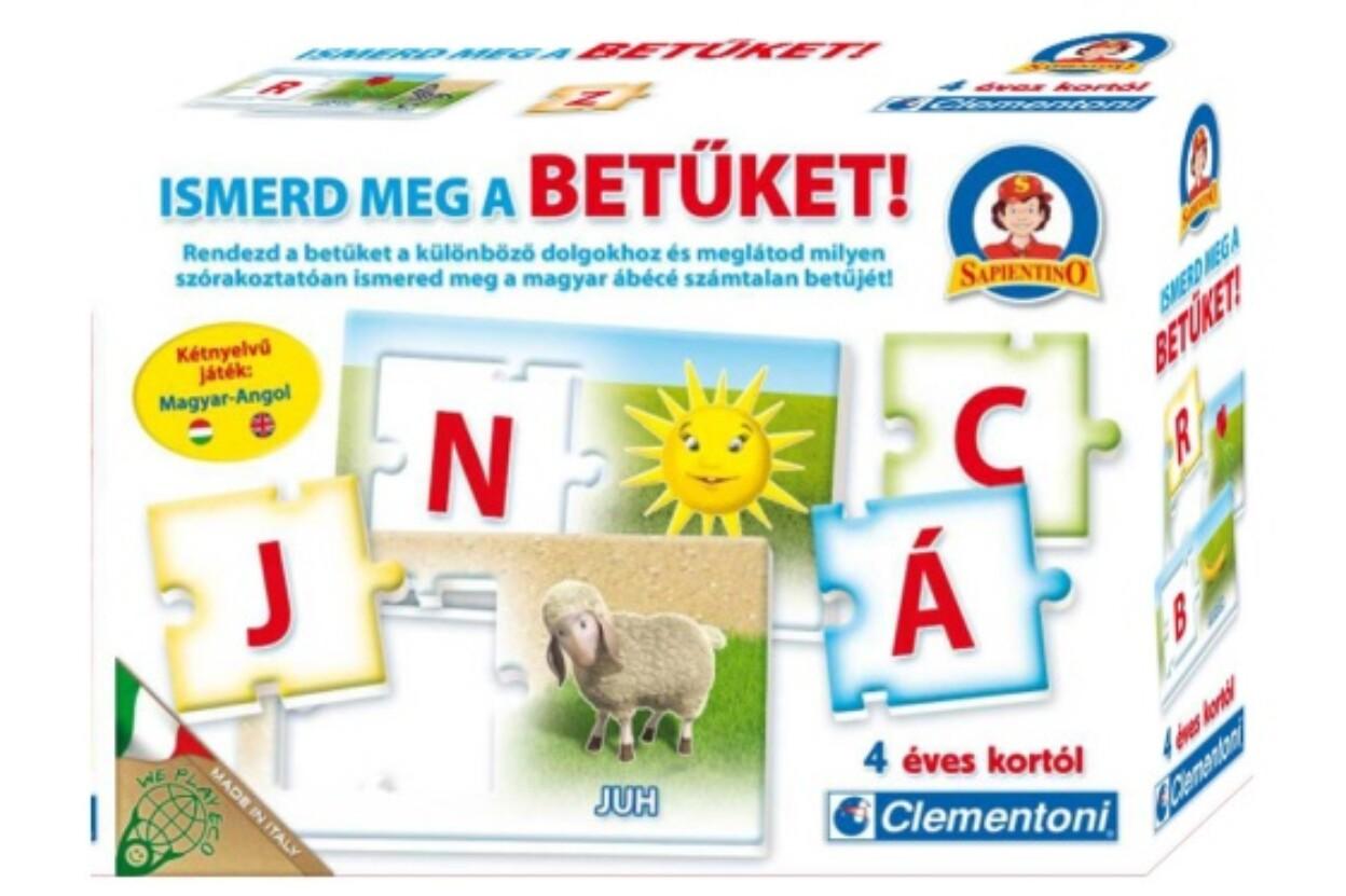 Clementoni 64014 - Sapientino Ismerd meg a betűket - kétnyelvű oktató játék 34a37da0e7