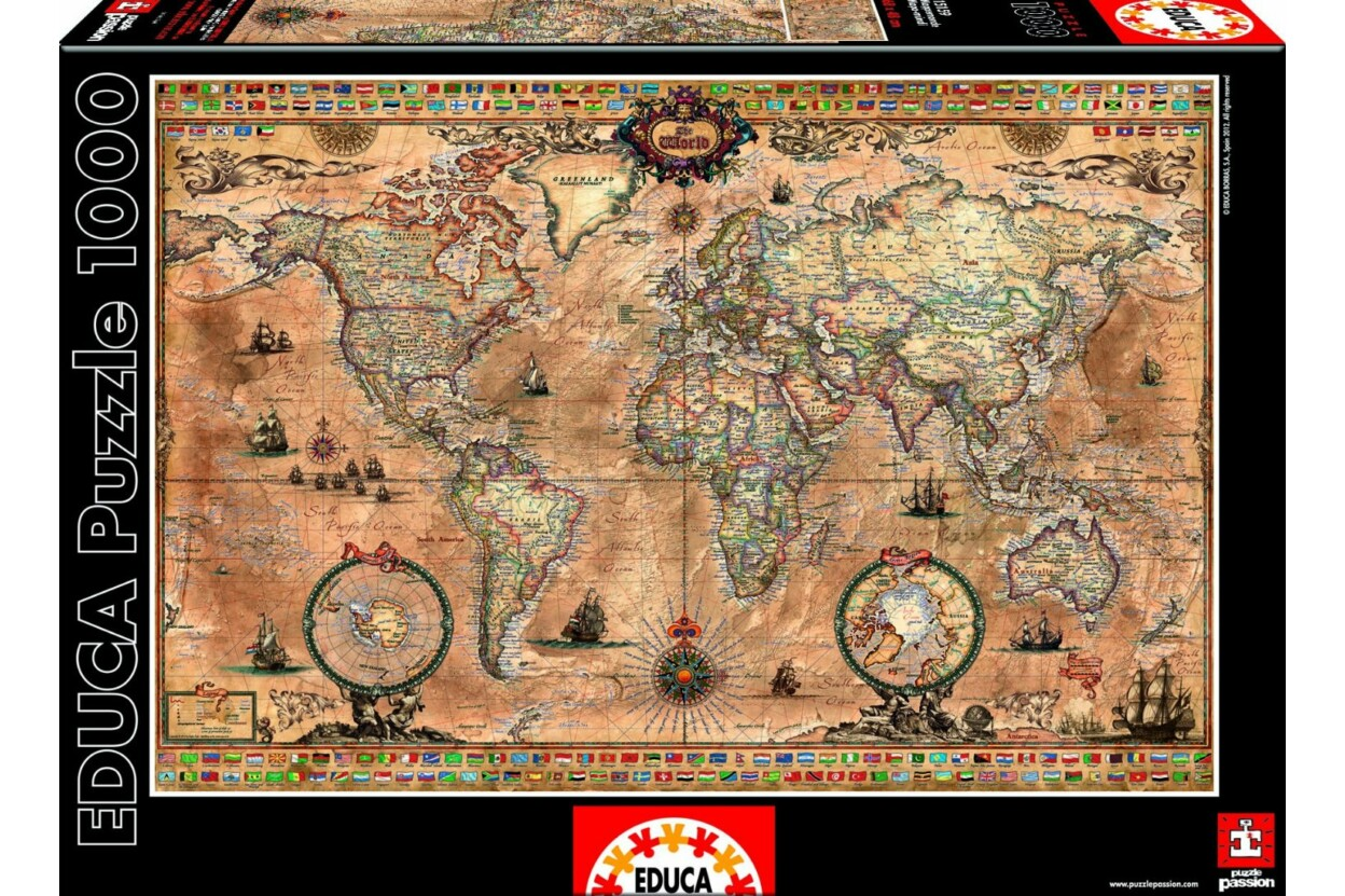 térkép puzzle Educa 15159 puzzle   a Puzzle.hu webáruházban.