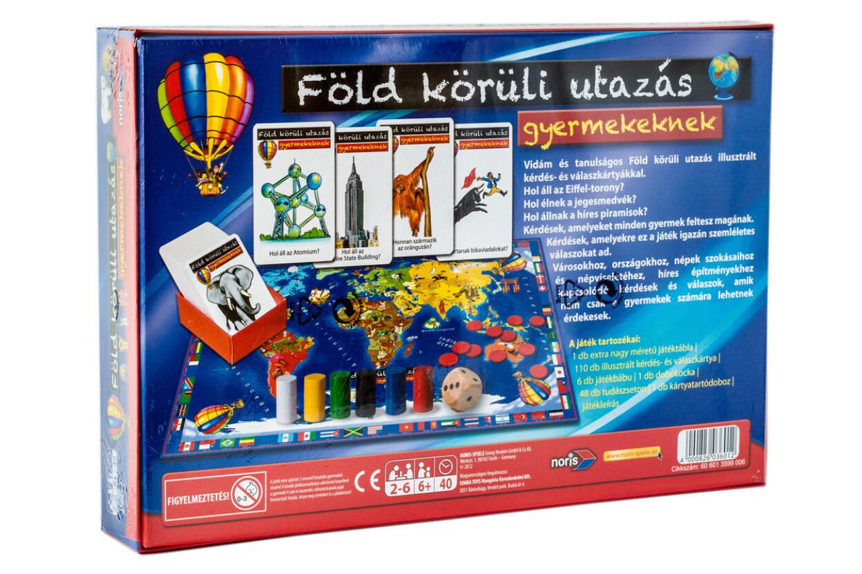 Noris 6013599 - Föld körüli utazás gyermekeknek oktató társasjáték 24802675da