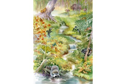 Bluebird puzzle 70025 - Forest Animals - 1000 db-os puzzle