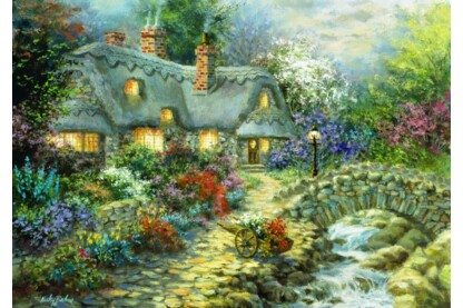 Bluebird puzzle 70064 - Country Cottage - 1000 db-os puzzle