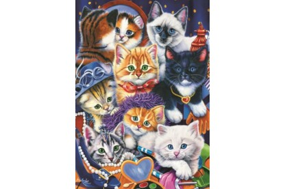Bluebird puzzle 70087 - Kittens In Closet - 1000 db-os puzzle