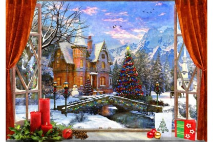 Bluebird puzzle 70190 - Christmas Mountain View - 1000 db-os puzzle