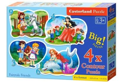 Castorland B-005062 - Sziluett puzzle - Mesebeli barátok - 3,4,6,9 db-os puzzle