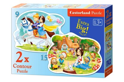 Castorland B-020041 - Hófehérke - 9,15 db-os Sziluett puzzle