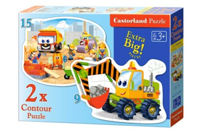 Castorland B-020065 - Építkezés - 9,15 db-os Sziluett puzzle
