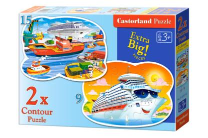 Castorland B-020102 - Tengeri kalandok - 9,15 db-os Sziluett puzzle