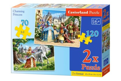 Castorland B-021017 - Bűbájos hercegnő - 2 az 1-ben (70,120 db-os) puzzle