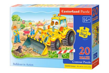 Castorland C-02139 - Munkában a buldózer - 20 db-os Maxi puzzle