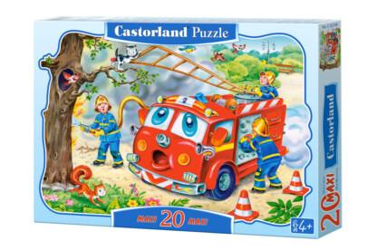 Castorland C-02146 - Tűzoltó brigád - 20 db-os Maxi puzzle