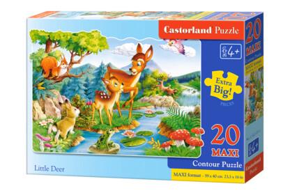 Castorland C-02177 - Őzikék a folyóparton - 20 db-os Maxi puzzle
