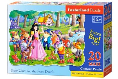 Castorland C-02320 - Hófehérke és a hét törpe - 20 db-os Maxi puzzle