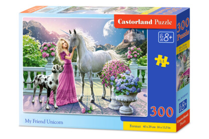 Castorland B-030088 - Barátom az unikornis - 300 db-os puzzle
