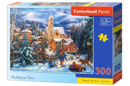 Castorland B-030194 - Szánkózás - 300 db-os puzzle