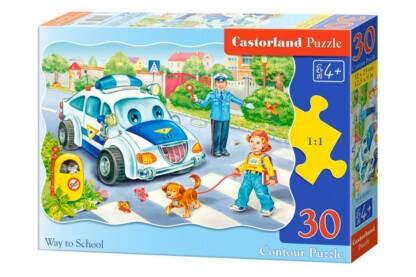 Castorland B-03389 - Iskolába menet - 30 db-os puzzle