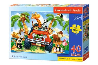 Castorland B-040131 - Szafari - 40 db-os Maxi puzzle