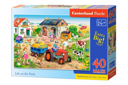Castorland B-040193 - Élet a farmon - 40 db-os Maxi puzzle