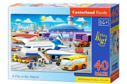 Castorland B-040223 - Egy nap a repülőtéren - 40 db-os Maxi puzzle