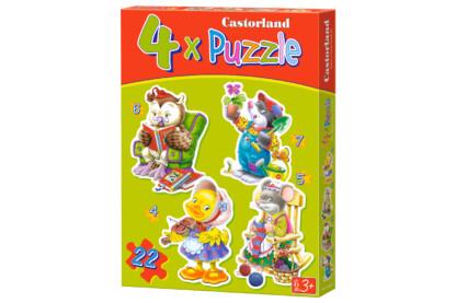 Castorland B-04225 - Sziluett puzzle - Szabadidő - 4,5,6,7 db-os puzzle