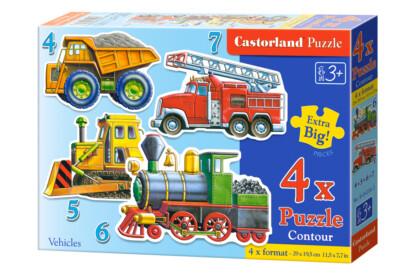 Castorland B-04256 - Sziluett puzzle - Munkagépek (B-04256) - 4,5,6,7 db-os