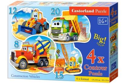 Castorland B-043040 - Munkagépek  - 4 az 1-ben (8, 12, 15, 20 db-os) puzzle