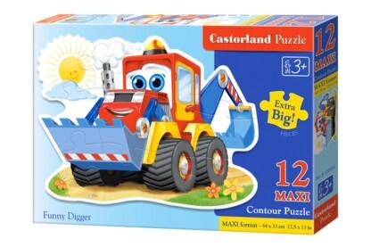 Castorland B-120024 - Mókás markoló - 12 db-os Maxi puzzle