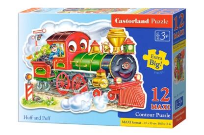 Castorland B-120055 - Vidám vonatozás - 12 db-os Maxi puzzle