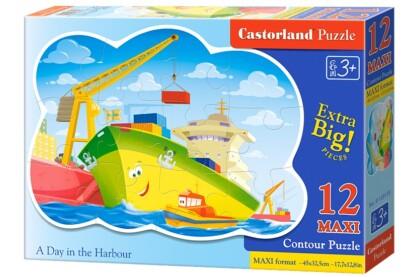 Castorland B-120130 - Egy nap a kikötőben - 12 db-os Maxi puzzle