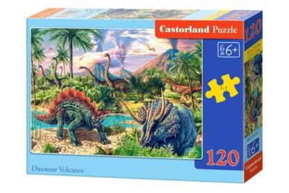 Castorland B-13234 - Dinoszauruszok és vulkánok - 120 db-os puzzle