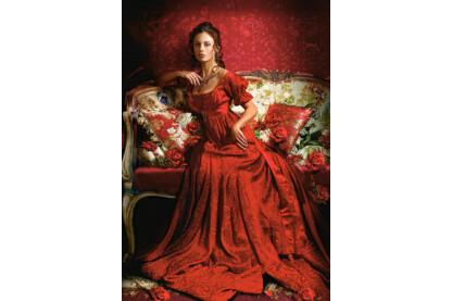Castorland C-151370 - Szépség vörösben - 1500 db-os puzzle