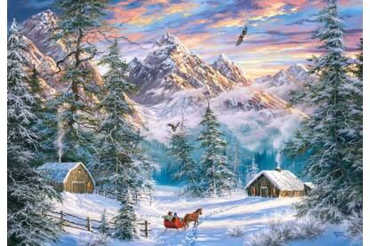 Castorland C-104680 - Karácsony a hegyekben - 1000 db-os puzzle