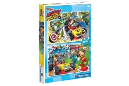 Clementoni 07130 - Mickey egér és barátai - 2 x 60 db-os puzzle
