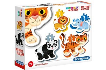Clementoni 20810 - Bébi sziluett puzzle - Vadállatok  - 2,3,4,5 db-os puzzle