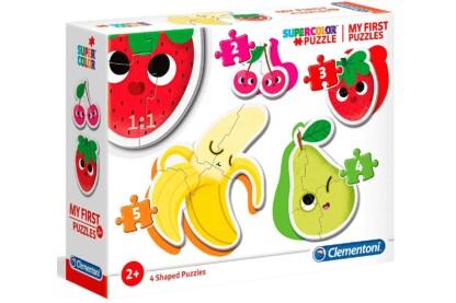 Clementoni 20815 - Bébi sziluett puzzle - Gyümölcsök - 2,3,4,5 db-os puzzle