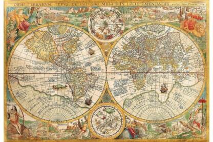 Clementoni 32557 - Antik térkép - 2000 db-os puzzle