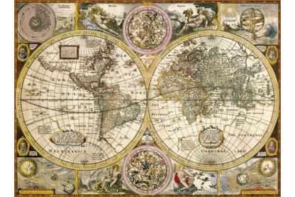 Clementoni 33531 - Antik térkép - 3000 db-os puzzle