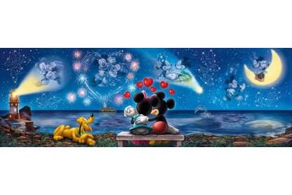 Clementoni 39449 - Panoráma puzzle - Mickey és Minnie - 1000 db-os puzzle