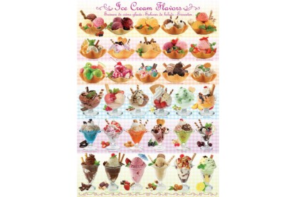 EuroGraphics 6000-0590 - Ice Cream Flavours - 1000 db-os puzzle